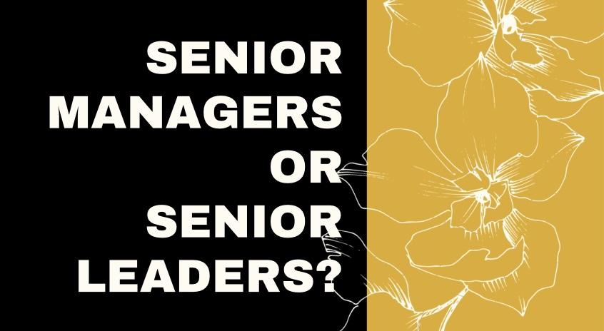 Senior Managers or Senior Leaders?